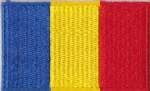 Chad Embroidered Flag Patch, style 04